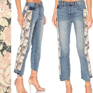 Current Elliott first love mixed floral jeans 24